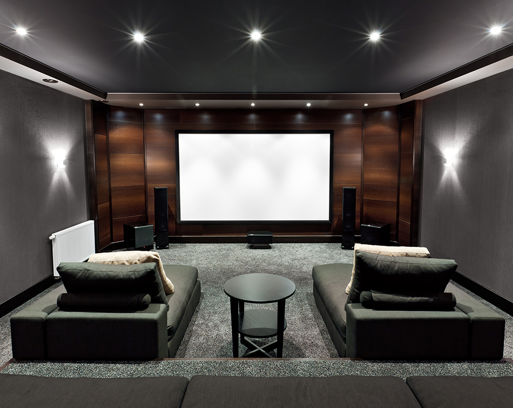 home theatre interiors seating design build. Black Bedroom Furniture Sets. Home Design Ideas